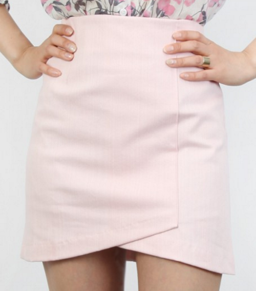 High-Waist Tulip Skirt