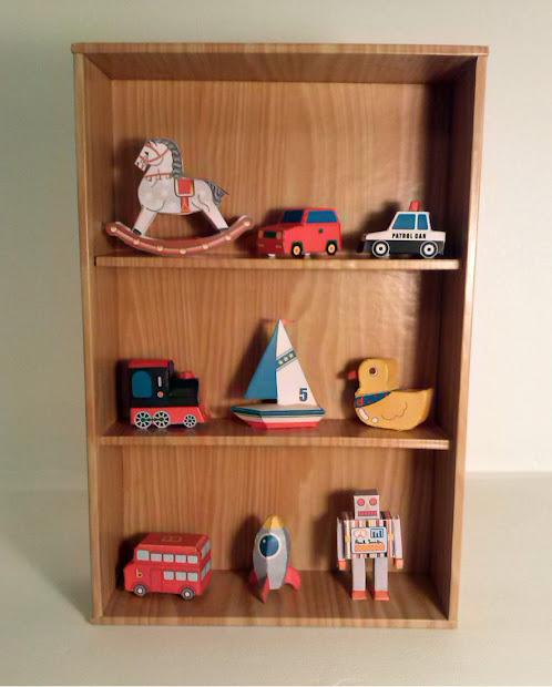 Casita de papel dollhousepaper estante de juguetes - Estantes para juguetes ...