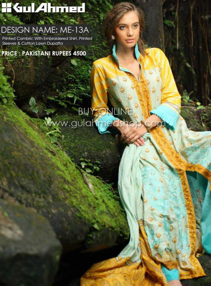 afe833c15 Gul Ahmed Mid Summer Dresses 2012