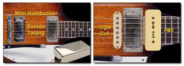 Pastillas Minihumbucker en Guitarra Gibson Firebird