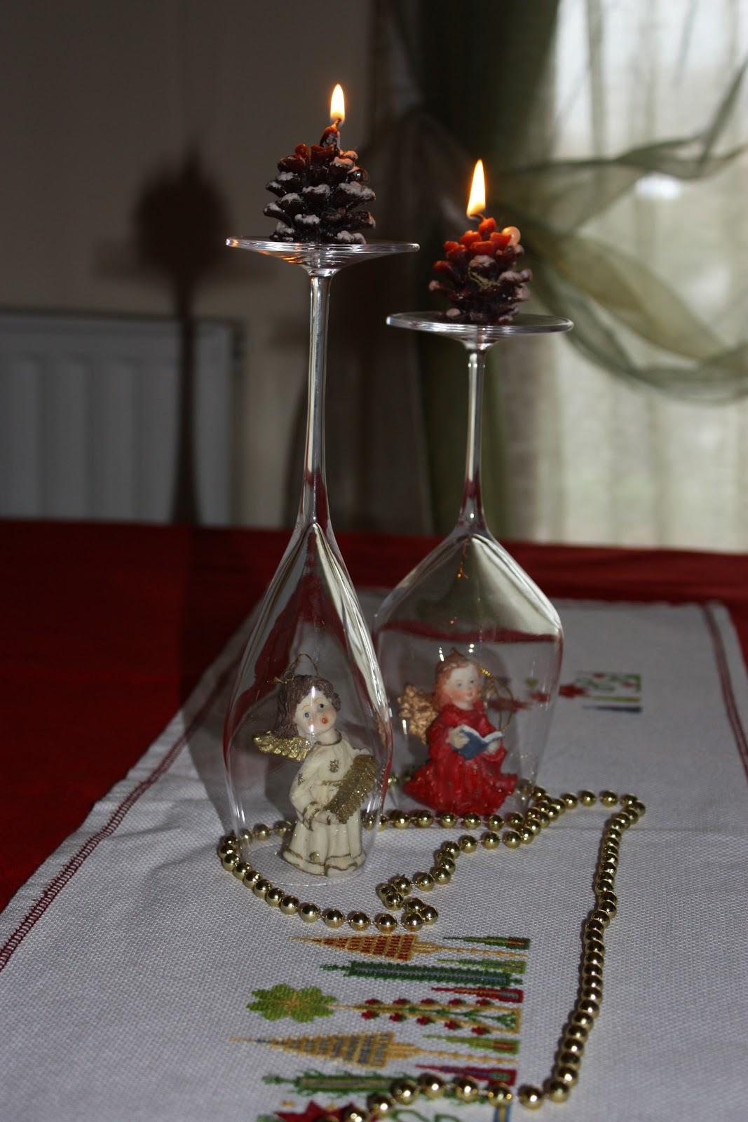 Bambino di mamma per tavola di natale bicchieri rovesciati for Tavolo natalizio