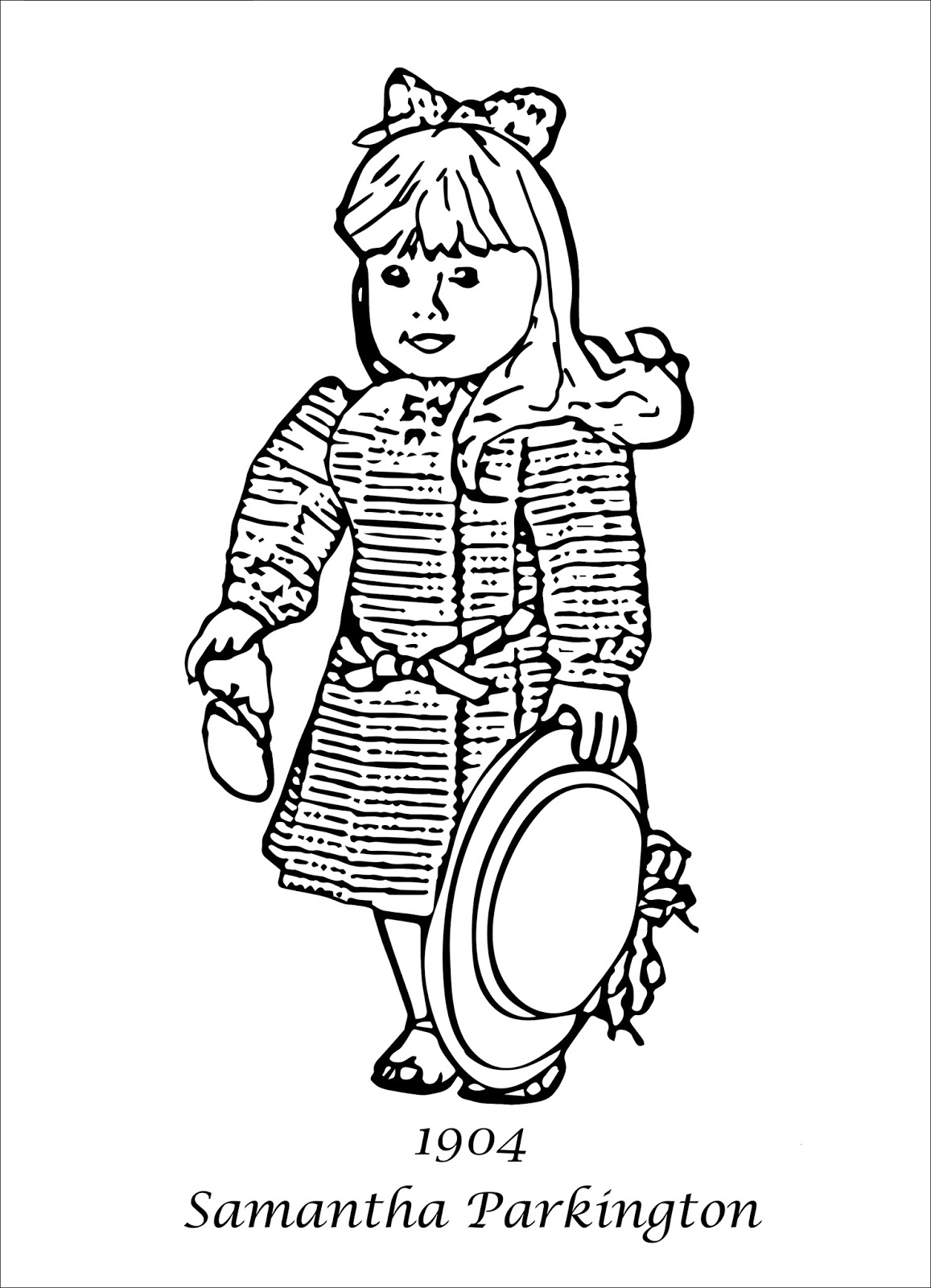 My Cup Overflows: American Girl Coloring Pages