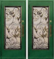 """Дверь с ковкой """"Бабочка"""""""