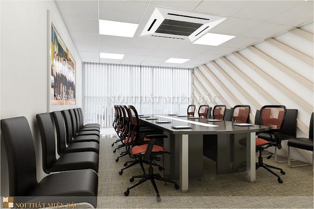 Để thiết kế nội thất phòng họp đẹp cần phụ thuộc vào cách bài trí không gian sao cho khoa học nhất