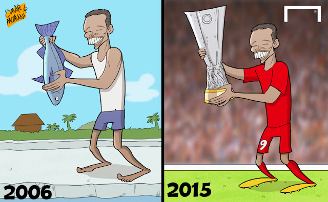 Carlos Bacca cartoon