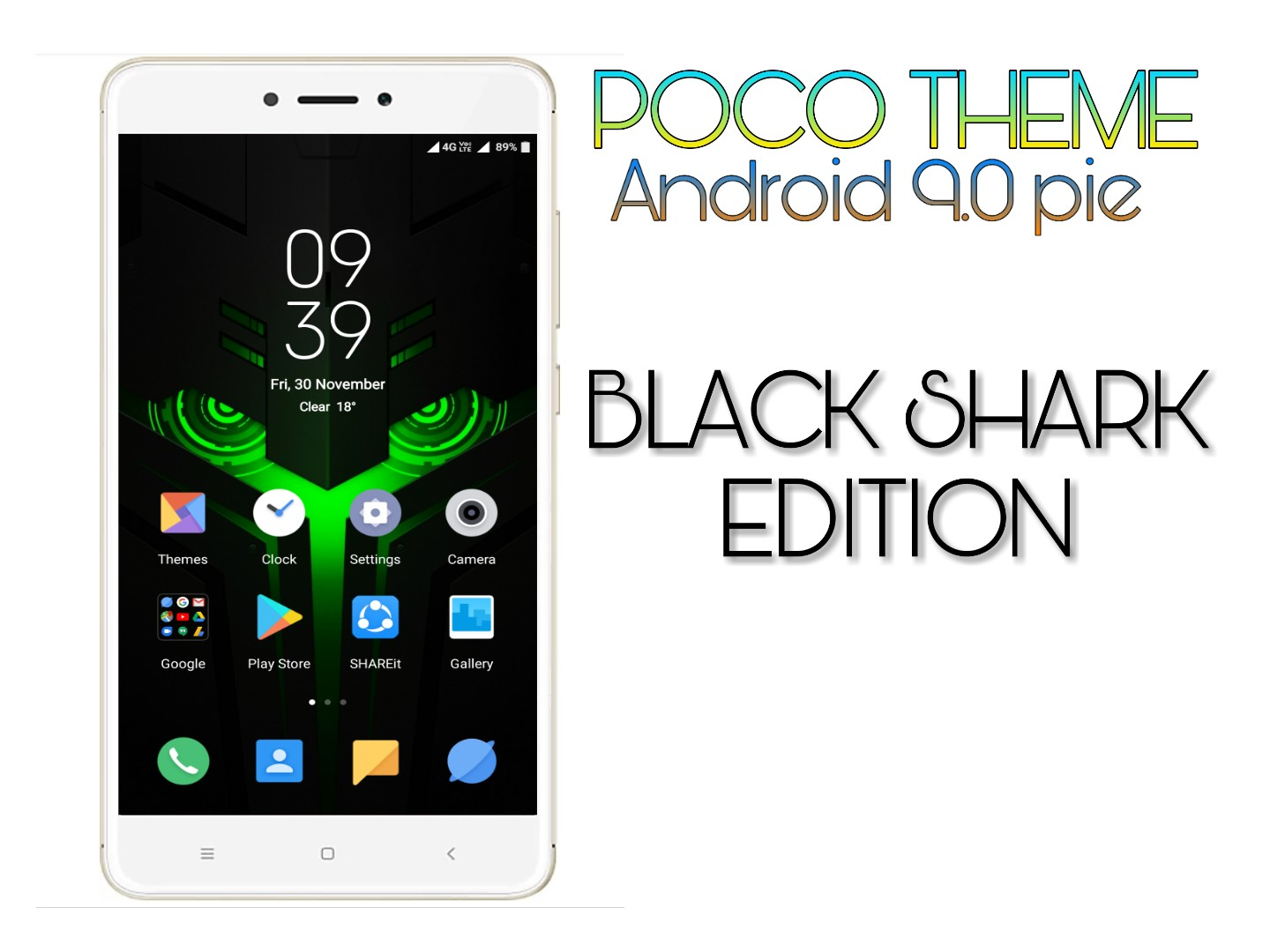 Poco theme android pie black shark edition only for miui 10