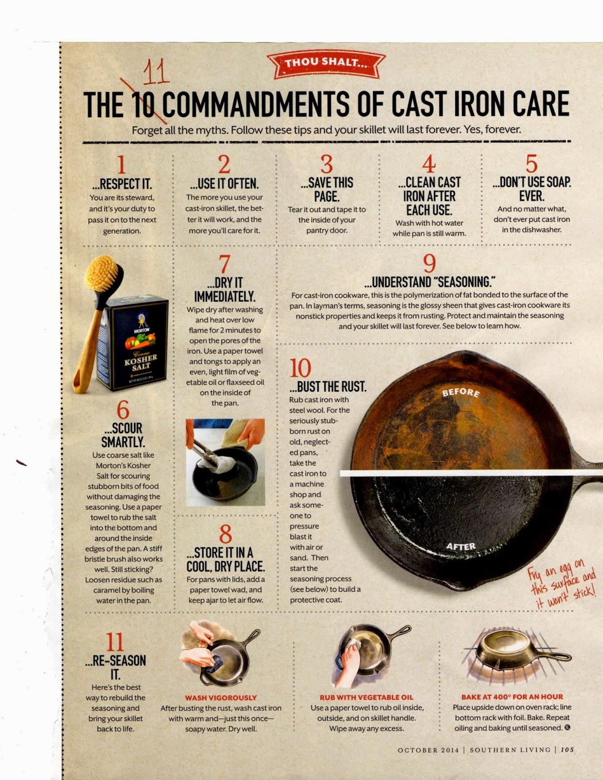 cast iron care