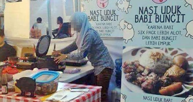 TERKINI ! Cerita Sebenar Gadis Bertudung Berniaga 'Nasi Lemak Babi Buncit'.. Memang Betul² Babi..