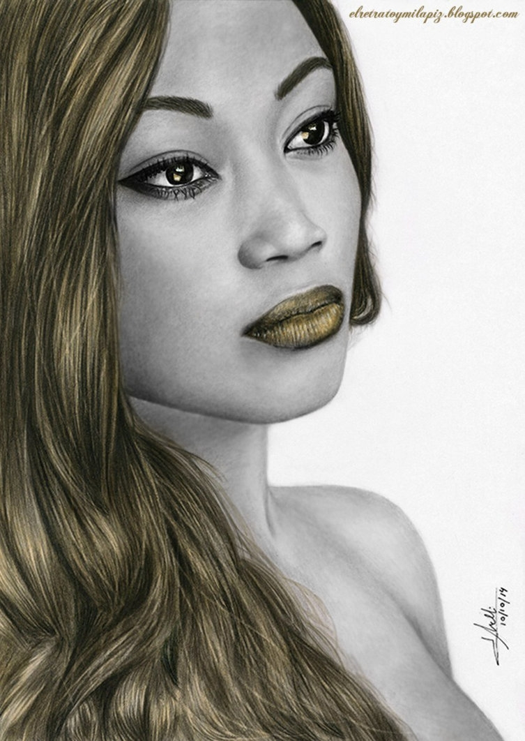 07-Gold-Reflections-Isabel-Morelli-iSaBeL-MR-Pencil-Black-Pastel-and-Charcoal-Portrait-Drawings-www-designstack-co