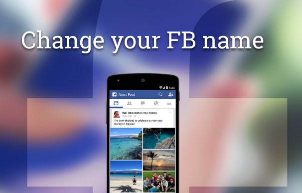 How to change your facebook name to a nickname