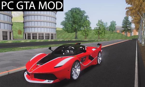 Free Download Ferrari FXX-K  Mod for GTA San Andreas.