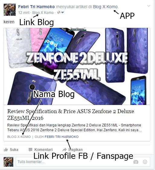 Cara Menambahkan Author Link Aktif dan Deskripsi Blog di Facebook Terbaru 2016