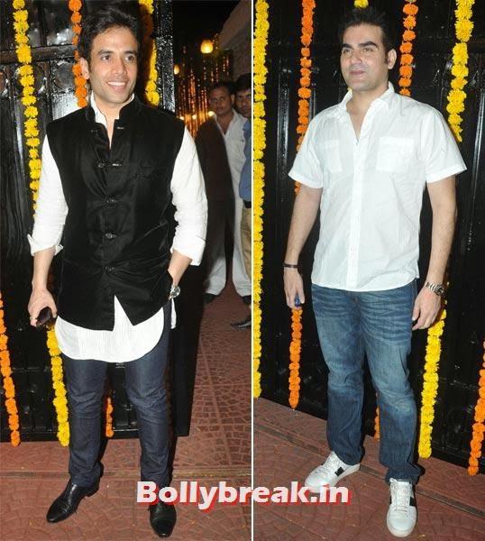 Tusshar Kapoor and Arbaaz Khan, Ekta Kapoor's Diwali bash 2013