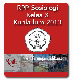 RPP Sosiologi Kelas X | Kurikulum 2013