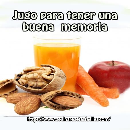 Receta de jugo para tener una buena memoria✅Mejora tu memoria, tomando este jugo que te presentamos a continuación y con ingredientes fáciles de conseguir.