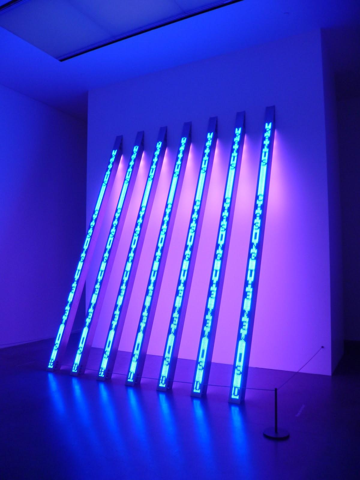 Walk To Free Art London 69 Blue Purple Tilt By Jenny Holzer