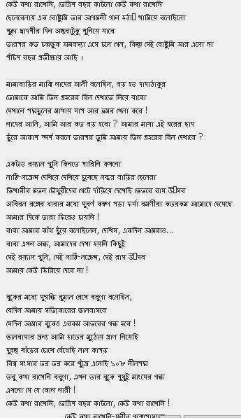 Banglar Mukh কেউ কথা রাখে না সুনীল গঙ্গোপাধ্যায় No
