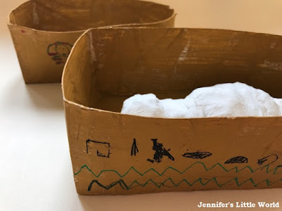 Ancient Egyptian mummy case craft for children