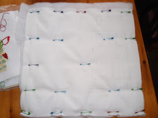 Quilting practice block - basted