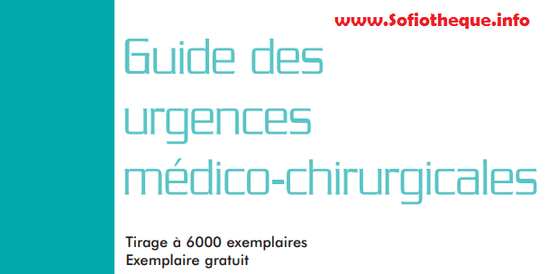 Guide des Urgences Médico Chirurgicales PDF gratuit