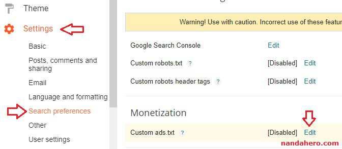 Bagi Publisher Google Adsense yang mendapat peringatan dari Google di dashboard Google Ad Tutorial Gampang Mengaktifkan Ads.txt di Blogger.com