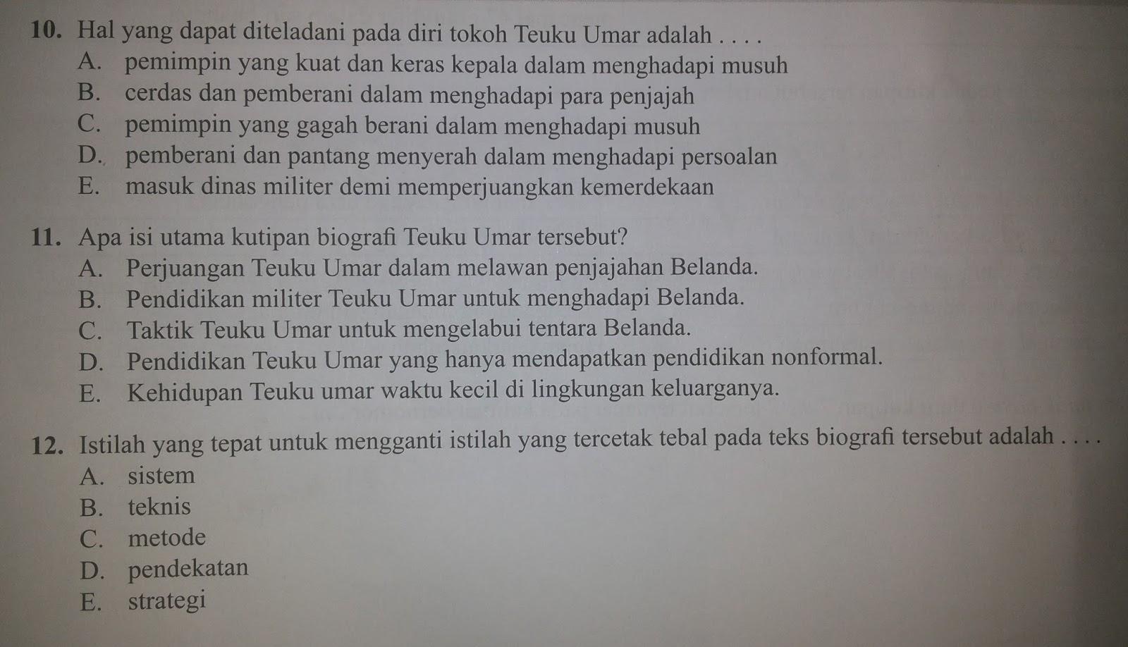 Bahasa Indonesia Soal Simulasi Un 2016 Bahasa Indonesia 10 21