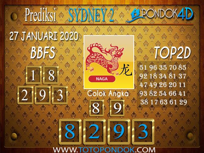 Prediksi Togel SYDNEY 2 PONDOK4D 27 JANUARI 2020