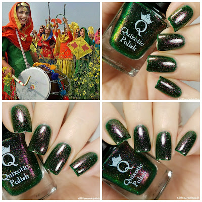 Quixotic Polish Basant December 2017 Polish PIckup Swatches and Review