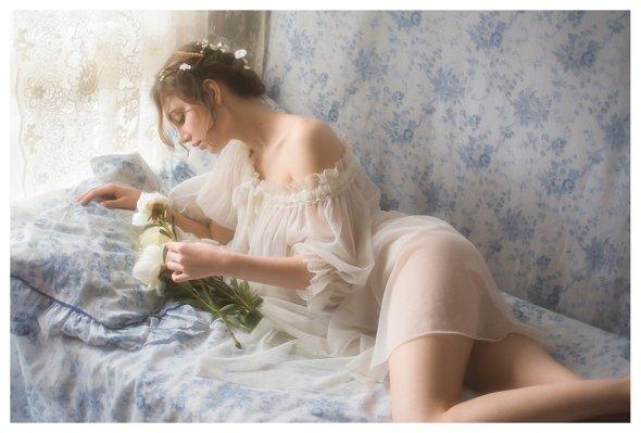 Vivienne Mok fotografia arte ensaio fotográfico modelo beleza Vlada Yurkova vintage boudoir fashion