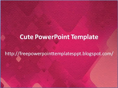 5 free cute powerpoint templates download - charming background, Powerpoint templates