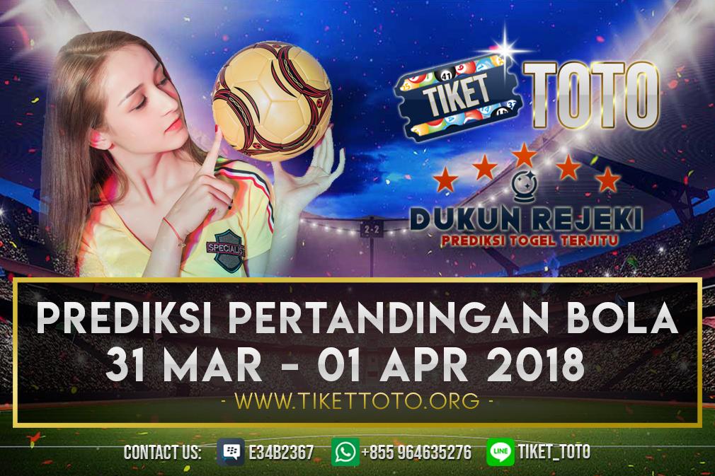 PREDIKSI PERTANDINGAN BOLA 31 MAR – 01 APR 2019