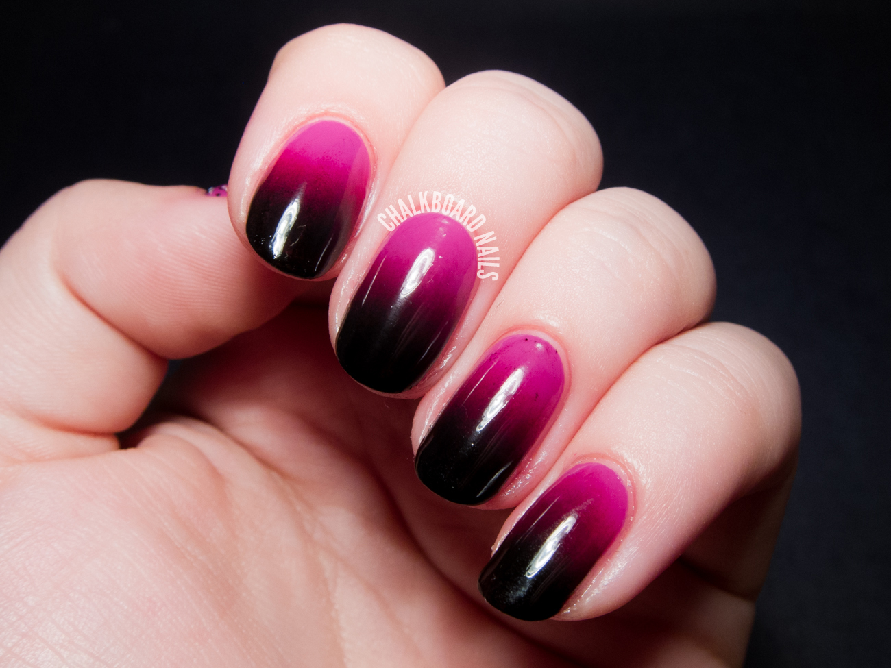 Vampy pink gradient by @chalkboardnails