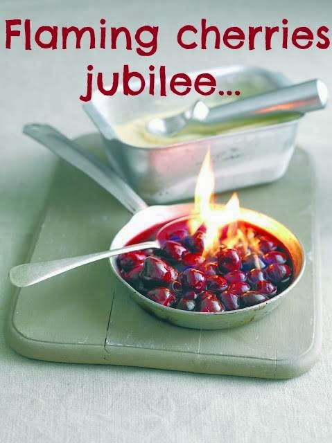 How To Make Flaming Cherries Jubilee