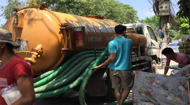 Xe hút bể phốt tại huyện Ý Yên