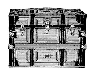 antique trunk travel image digital illustration