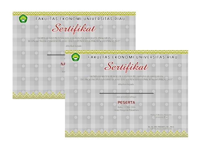 bikin sertifikat seminar di Pekanbaru