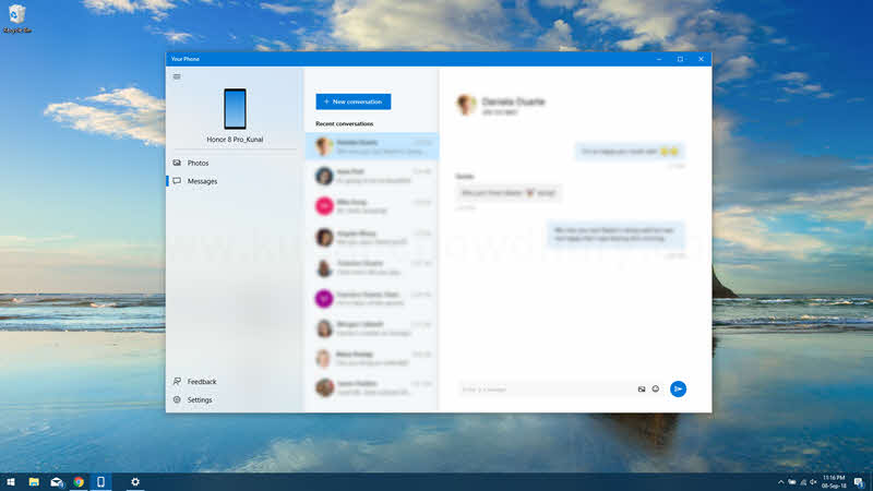 SMS integration comes to Windows 10 'Your Phone' app