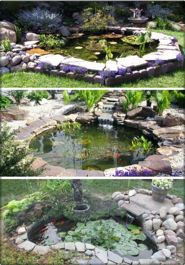 Make a mini lake in the garden wonderful flowers for Koi pond mold