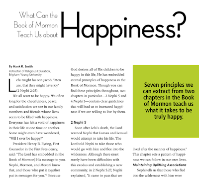 What Can the Book of Mormon Teach Us about Happiness?