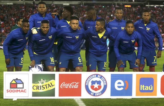 Formación de Ecuador ante Chile, Clasificatorias Rusia 2018, 5 de octubre de 2017