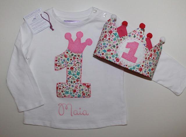 conjunto cumpleaños camiseta y corona