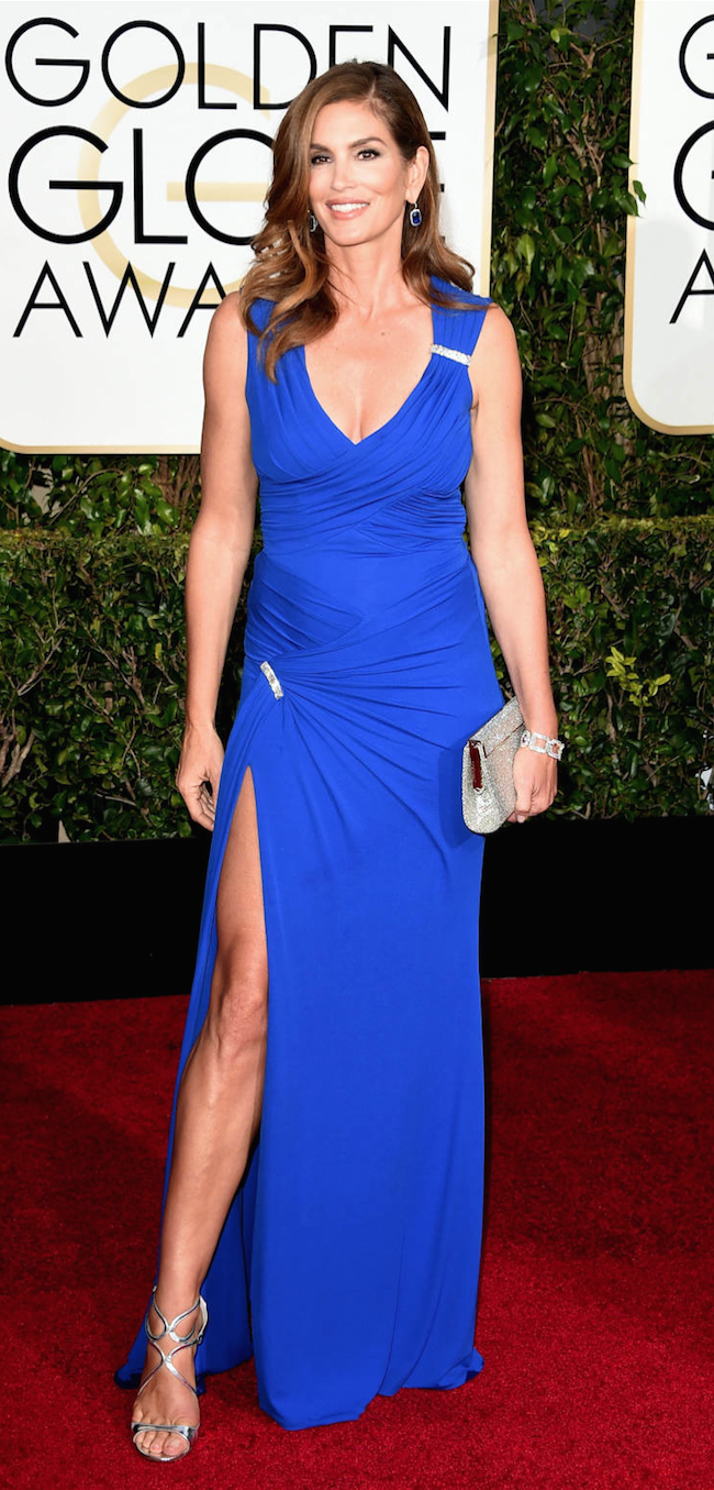 Cindy Crawford 2015 Golden Globe Awards