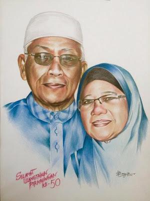 lukisan hadiah mak ayah