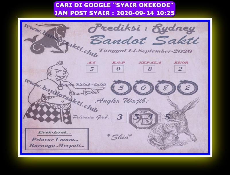 Kode syair Sydney Senin 14 September 2020 179