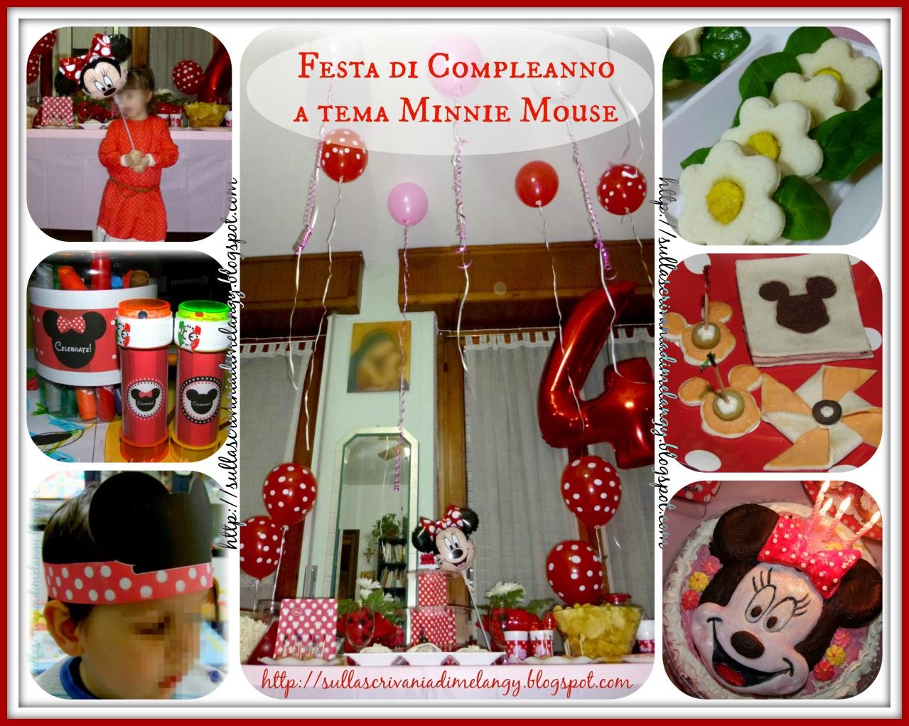 Compleanno bambini: festa a tema Minnie Mouse!  Sulla scrivania di ...