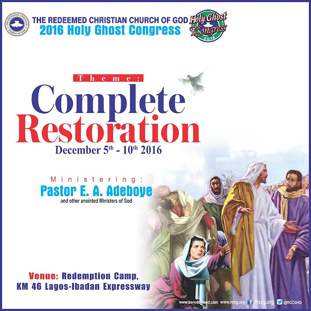 RCCG HOLY GHOST CONGRESS 2016