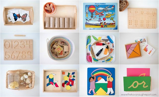 Some Montessori friendly toys and DIYs for a 4-year-old.