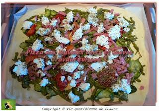 Vie quotidienne de FLaure: Pizza aux légumes verts et chèvre