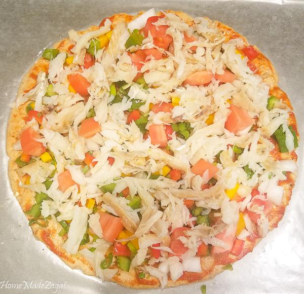 Delicious Saltfish Pizza