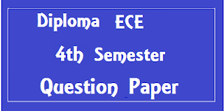 Diploma ECE 4th Sem Previous year Question Papers Mdu (Maharshi Dayanand University)